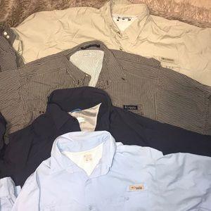 4 columbia long sleeve fishing shirts